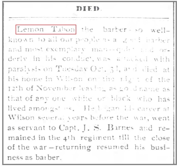 The_Wilson_Mirror_11_15_1893_Lemon_Tabron_obit