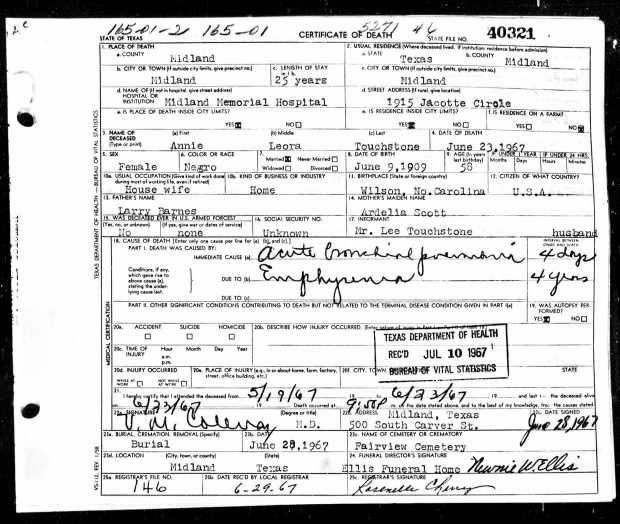 Where did they go?: Texas and Kentucky death certificates. | Black ...