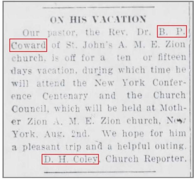 WDT_8_5_1921_Rev_Coward_vacation