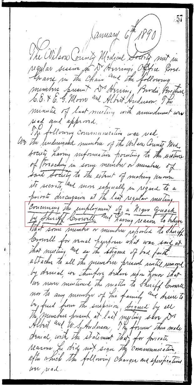 Wilson Co Med Soc Minutes re Black Quack Doctor_Page_02