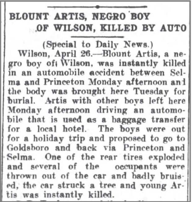 Greensboro_Daily_News_27_Apr_1916_Blount_Artis_killed