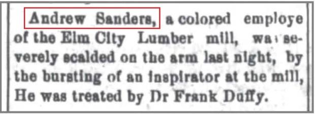 New_Bern_Weekly_6_12_1903_Andrew_Sanders_scalded