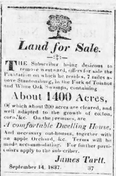 Tarboro' Press 10 28 1837