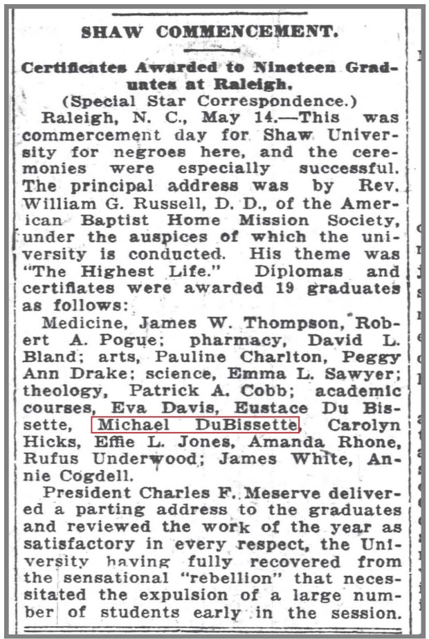 Wilm_Morning_Star_5_15_1915_Shaw_grad_DuBissette