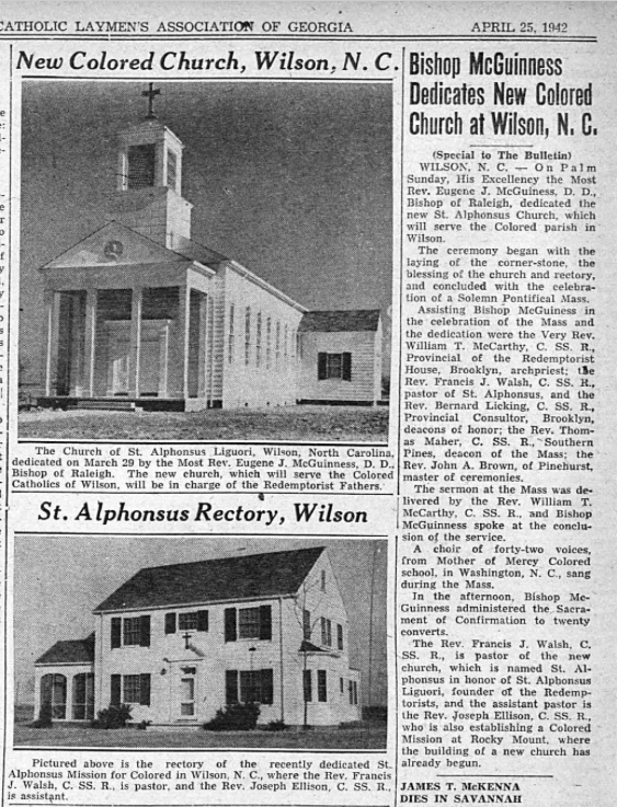 Bulletin of Catholic Laymen's Assoc of GA 4 25 1942