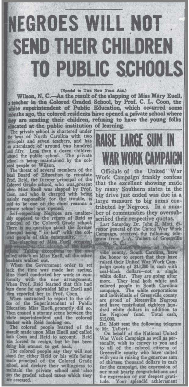 NY_Age_11_23_1918_Open_Private_School_in_Wilson__N_C_