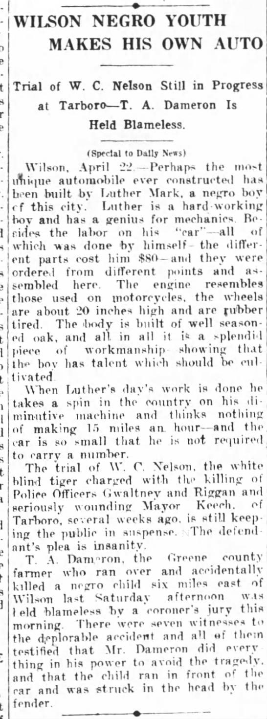 Greensboro Daily News 4 23 1917