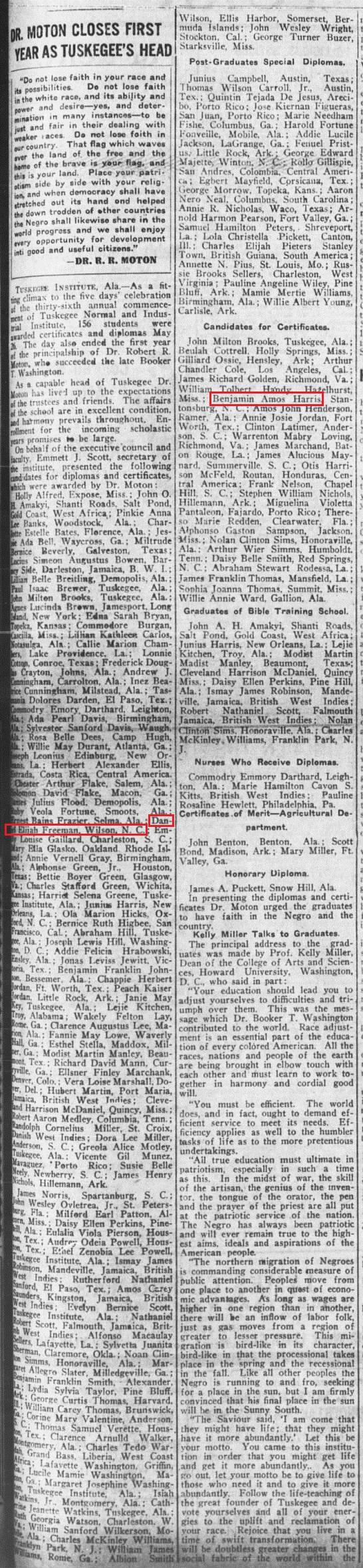 NYA 6 7 1917 Tuskegee