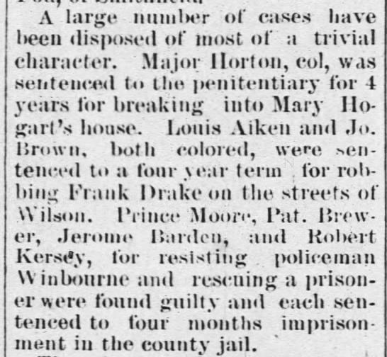 moore sentence WA 3 7 1884