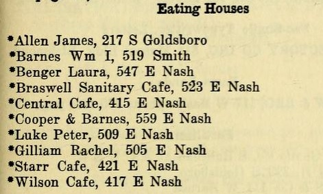 1925 eating houses