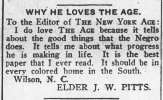 NY Age JW Pitts
