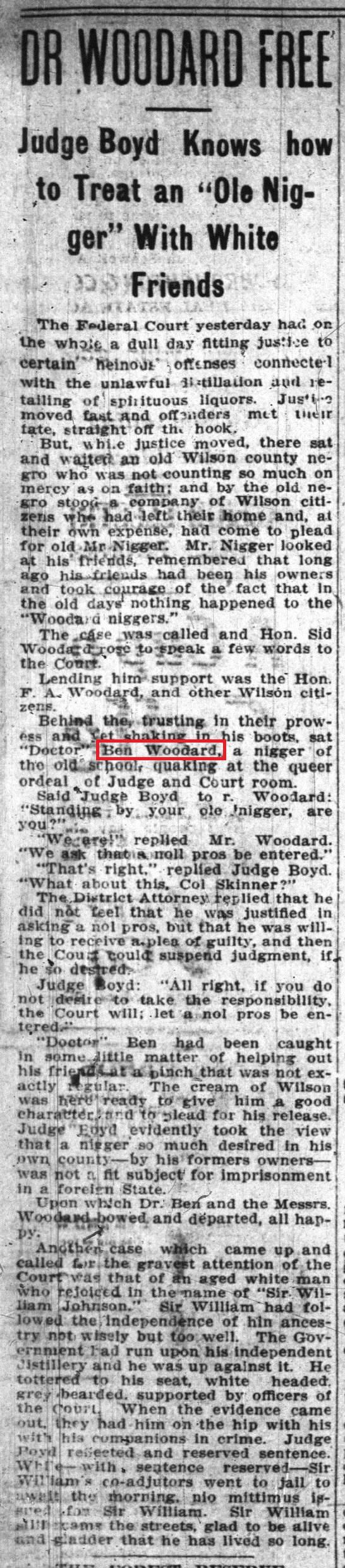 b Woodard 1 31 1908